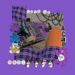 alternative skating skate purple plaid skirt black acab chains style bisexual edits indie soft egirl freetoedit