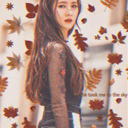 fallmood fallingleaves fall fallvibes autumn autumnleaves autumnmood gidle gidlemiyeon miyeon freetoedit