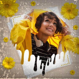 replay madewithpicsart dripping yellow sunflowers rain papicks freetoedit