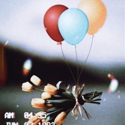 balloon sky tulips interesting freetoedit