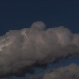 небо облака эстетика голубой синий белый freetoedit