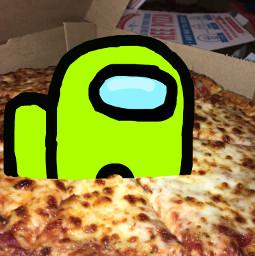 freetoedit pizza amongus