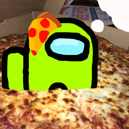remixed amongus pizza imhungry freetoedit