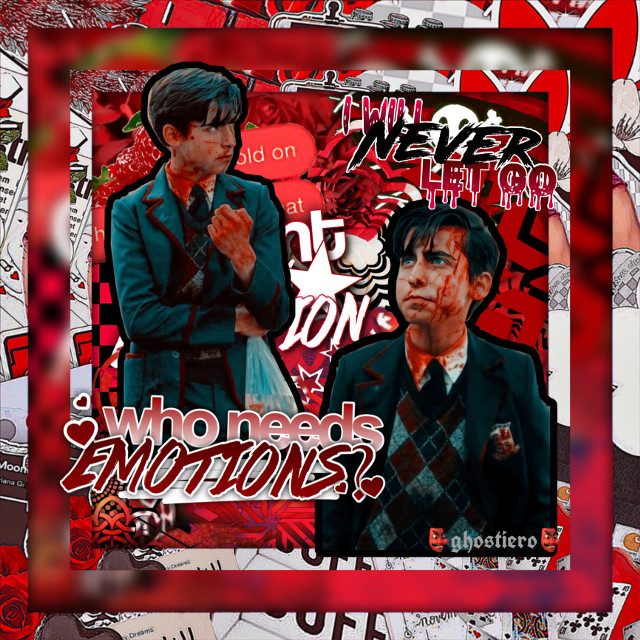 """almost finished with season two :(((  ~x~x~x~x~x~x~x~x~x~x~x~x~x~      wh0 ; aidan gallagher / five hargreeves quote ; """"who needs emotions?"""" theme ; dark & red song ; blood - my chemical romance  ~x~x~x~x~x~x~x~x~x~x~x~x~x~      tags ;       @t0xiccandy @squidiero  ~x~x~x~x~x~x~x~x~x~x~x~x~x~      comment """"🦋"""" to join the taglist.     comment """"🐙"""" to be removed.      ~x~x~x~x~x~x~x~x~x~x~x~x~x~      hashtags ; #aidangallagher #fivehargreeves #theumbrellaacademy #five #umbrellaacademy #edit #edits #netflix #fivehargreevesedit #theumbrellaacademyedit #hargreeves #umbrella #academy #freetoedit  ~x~x~x~x~x~x~x~x~x~x~x~x~x~"""
