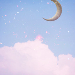 clouds moon background backgrounds remixit freetoedit