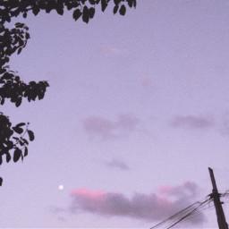 aesthetic clouds tumblr eboy egirl indiekid sky moon nature