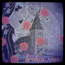 broken brokenheart brokenhearted darkangel darkart darkmode roses rosesticker freetoedit srcrosesarered rosesarered
