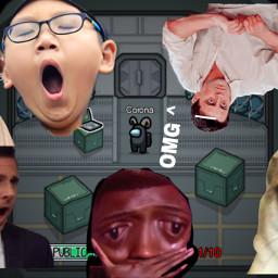 freetoedit memes omg amongus