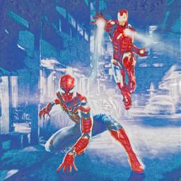 spiderman ironman remixed cool cooledit coolcolors marvel marvelstudios marveledit freetoedit
