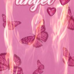 pink pinkaesthetic pinkbutterflies butterflies hotpink hearts angel barbie sparkly sequins glitter girly cute pretty fire mignon feu flames 💖💖💖 freetoedit flames