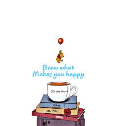 book whinniethepoo harrypotter marvel cuppa cute simple happy poohbear art creative freetoedit