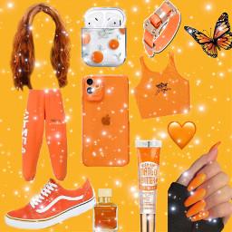 orangeaesthetic orangebackground forteens freetoedit