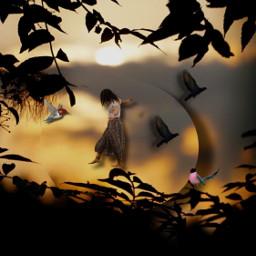 makeawesome fantasy imagination sunny sunset prismlights tree nature editedbyme goldenhour goldenhourlight playing playingwithpicsart freetoedit