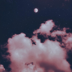 freetoedit aesthetic sky moon aestheticedit madewithpicsart makeawesome clouds