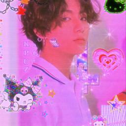 freetoedit bts jungkook cyber cybercore purple saturation cyberedit