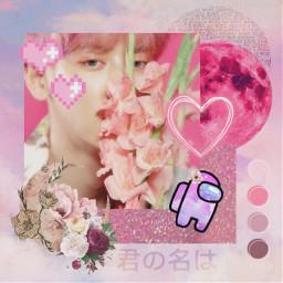 chanyeol pinkflower freetoedit