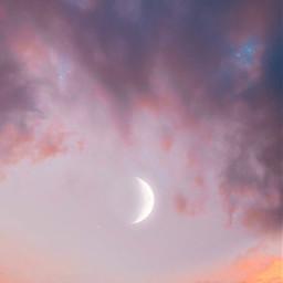 freetoedit nature themoon skyandclouds endoftheday sunsetlight autumnsunset moonphase skylover naturephotography