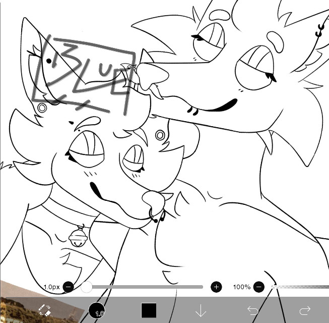 another wip 👀👀 im starting color now bc i just finished outlining.  im still on break bc my theater production is this weekend, but i should be back next week bc of the break  (bark, grrr, i forgot you again @londonlps)  #shut