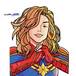 marvel marvelstudios marvelcomics avengers caroldanvers captainmarvel drawing