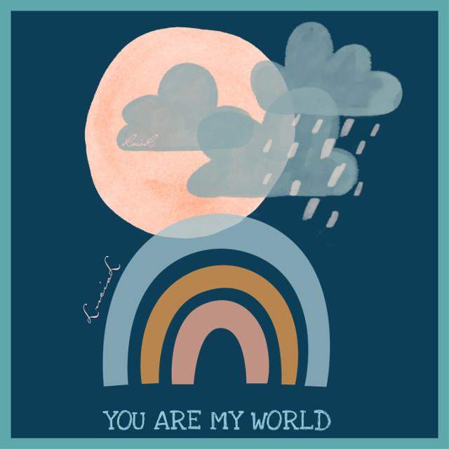 #myworld #sun #clouds #rainbow #rain