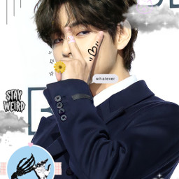 bts taehyung simple simpleaesthetics clouds sparkle hearts freetoedit