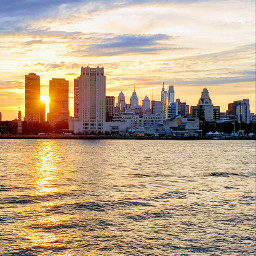 philadelphia sunset waterfront sunrise cityscapes pcbuildingsisee buildingsisee