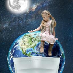 night universe earthplanet planetearth earth galaxy moon covid19 freetoedit