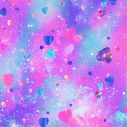 freetoedit glitter sparkle galaxy hearts love pastel shimmer sky stars pink colorful cute girly kawaii clouds aesthetic cosmos wallpaper background overlay