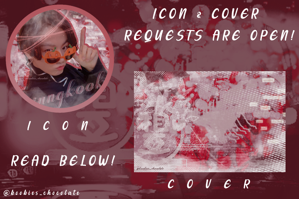 Requests r closed! I have been thinking for doing an icon and cover request...... so here they're. Just comment me the group.  with username or without username or if u still don't have comments you can DM me on pinterest (my pinterest username:@kookies_chocolate) I will pick only 15 requests I am sure that no one will request😪 @peachy_vibesxoxo  @-taegguk-  @sunxhao  @parkjiminedit  @bts-kawaii  @bboy__shy  @kpop_atiny  @haneybvn  @jungwvie  @abi--  @-adoralix-  @-hihanlee  @chimmy-mochi  @aniyapanda  @official_kpopfilter  @levqnterelle  @jucykook  @taekooknochu  @-taehyung-supportbot  @fairyyoona  @toastymin  @-baechu-  @taehyungthings  @glossyjieun  @jgxjsj  @namastae_7spamacc  @bvbbletae-  @kpoparmy3102  @pastelcute0  @taeoxic  @gucci_95hyung  @chanelxnini  @rufescent-aesthete  @euphoric_soul  @kawaii_maknae  @kawaii_kpopbts  @peachyskies-  @joonieedits  @kpotati  @chae_berry  @namastae_7  @nooralali130907  @husushi_edits  @bts-supportbot-  @bts-  @thatcrazy_potterhead  @lucidyoonglesss  @im_a_dreamer___  @soso_bts_v  #kpop#bts#v#kimtaehyung#kimnamjoon#jungkook#suga#getwellsoonyoongi#iconandcocer#icon#cover#request