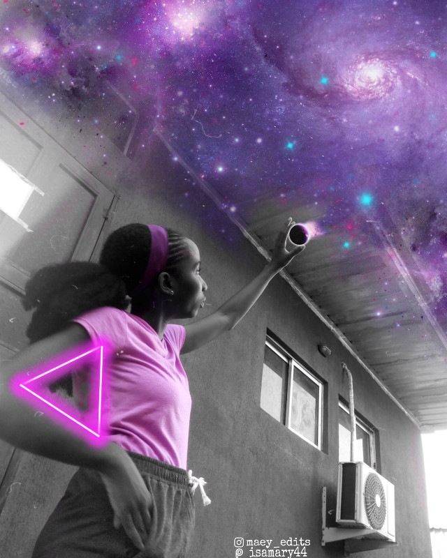 Purple Galaxies  • • • • • • • • • • • • • #purple #maeyedits #galaxyedit #picsart #heypicsart #purplesparkles #purpleaesthetic #purplegalaxy #colorsplasheffect #purplesky #blackandwhite #blackandwhitephotography #neontriangle #neonpurple