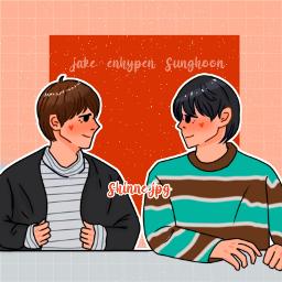 enhypen jake sunghoon jakehoon draw art ibispaintx aesthetic kpop