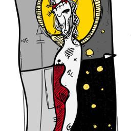 sketch boceto jesus christmas cross navidad navidad2020 ilustracion ilustration workinprogress acrylicpainting tshirt designinspiration catholicchurch iglesiacatólica catholic catolico religion symbology simbologia simbolismo