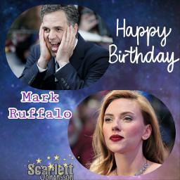 scarlettjohansson markruffalo birthday freetoedit