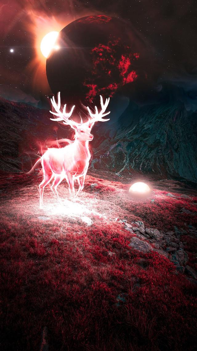 #freetoedit #antelope #earthspace #peace #peacmaker #worlddestruction #beautifull #remix#redmoon #wattpadcover