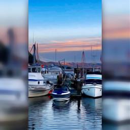 freetoedit boats harbor oilpaintingeffect