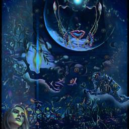 wasser see wother meer mare taucher women girl frau teenager mystical phantasie phantasy fantasy fantasyworld dreamland dreams animaleye inspiration meditation mythology freetoedit