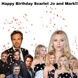 markruffalo scarlettjohansson scarjo happybirthday freetoedit