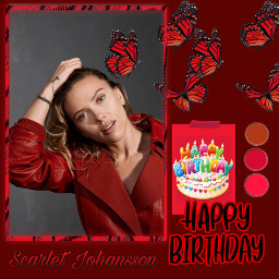 scarlettjohansson blackwidow happybirthday freetoedit