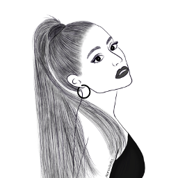 arianagrande mydrawing outlineart outline outlinegirl outlines drawing colorme celebrity freetoedit