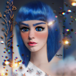cartoonize portrait bluehair wig photoart interesting photomanipulation face photoedit stickers layers filters madewithpicsart squarefit blue cartoon girl anime roundeyes freetoedit