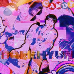 kpop aesthetic candy baekhyun exo freetoedit