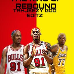 dennisrodman dennis rodman kingofrebound bulls91rodman lakers73 chicagobulls losangeleslakers red yellow tahjeezygodeditz freetoedit