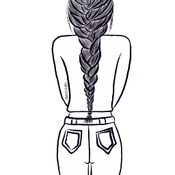 mydrawing outlineart outline illustration outlines colorme drawing braids freetoedit