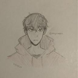 anime drawing doodle art traditionalart animeart sketch daisuke balanceunlimited themillionairedetective themillionairedetectivebalanceunlimited daisukekambe kambedaisuke