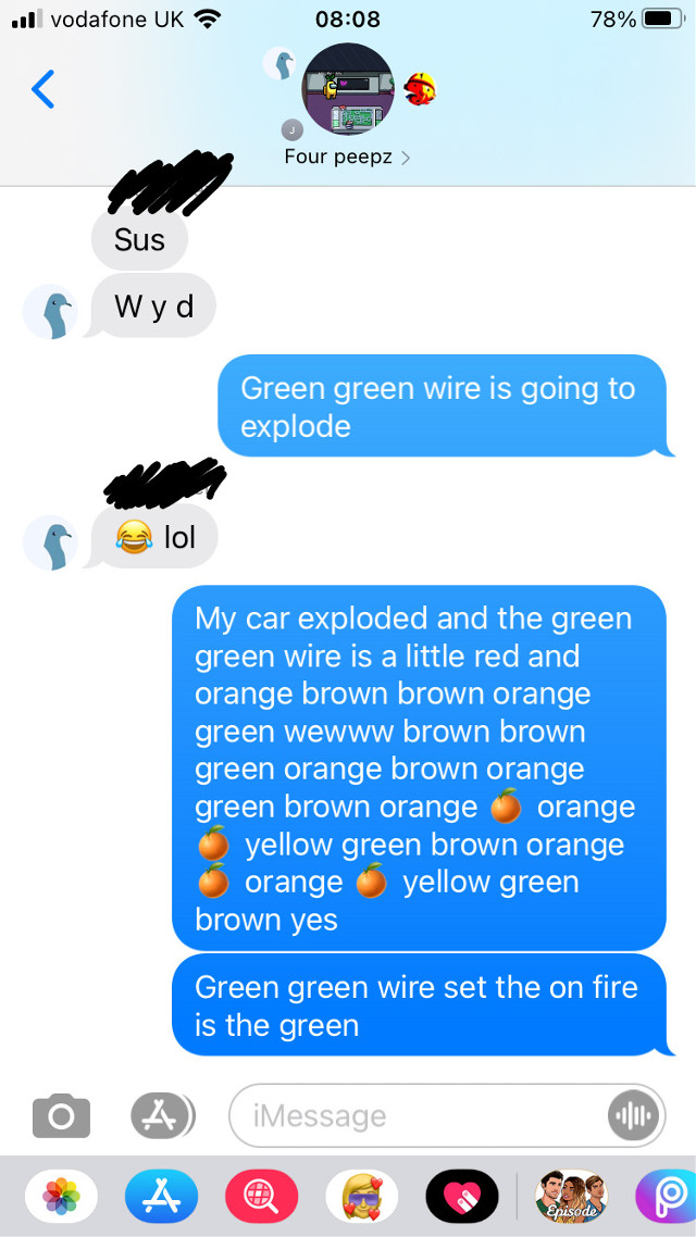 #nothing like being weird to your friends on a school morning  Also my crush is in this chat