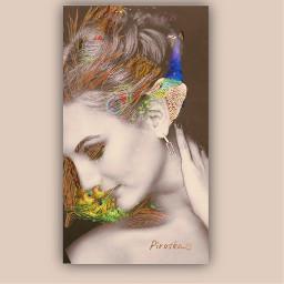 freetoedit myedit peacock doubleexposure artisticportrait art myart esthetic beauty