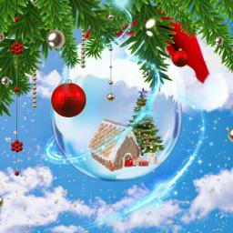 xmas christmas merrychristmas merryxmas merrychristmas2020 merryxmas2020 xmasissoon xmasseason gingerbreadhouse xmastree holly snow freetoedit