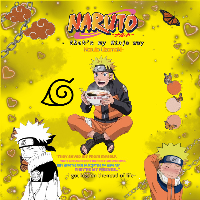 #Anime NarutoUzamaki #japan #aestheticbackground #yellowandorange