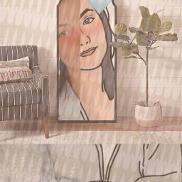 art edited woman mirrow diffrentview freetoedit