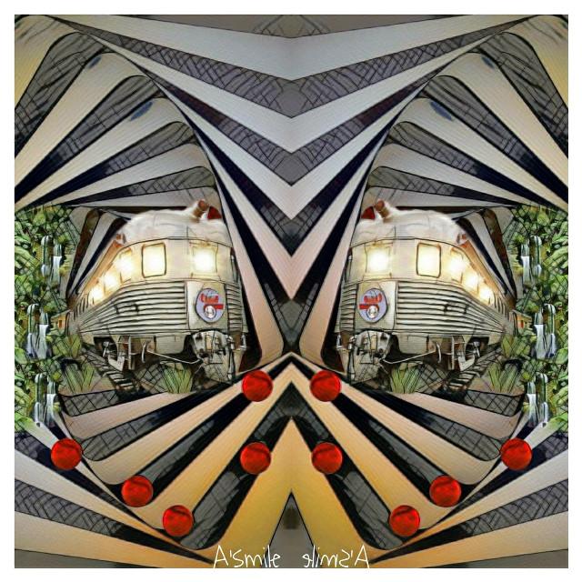 #@asweetsmile1 #background #blendedimages #blackandwhitephotography #blackandwhite #train #swirl #spiral #red #balls